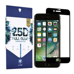 Folie Sticla iPhone SE 2, SE 2020 Lito 2.5D Full Glue Full Cover Cu Rama - Negru