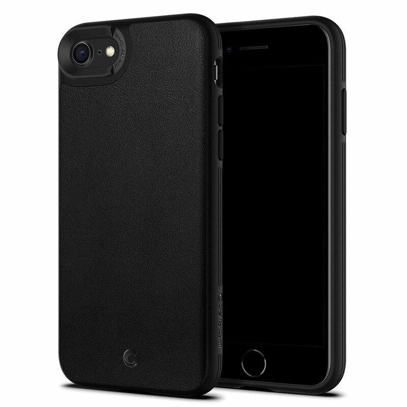 Husa iPhone 7 Spigen Ciel by Cyrill Leather Brick - Black