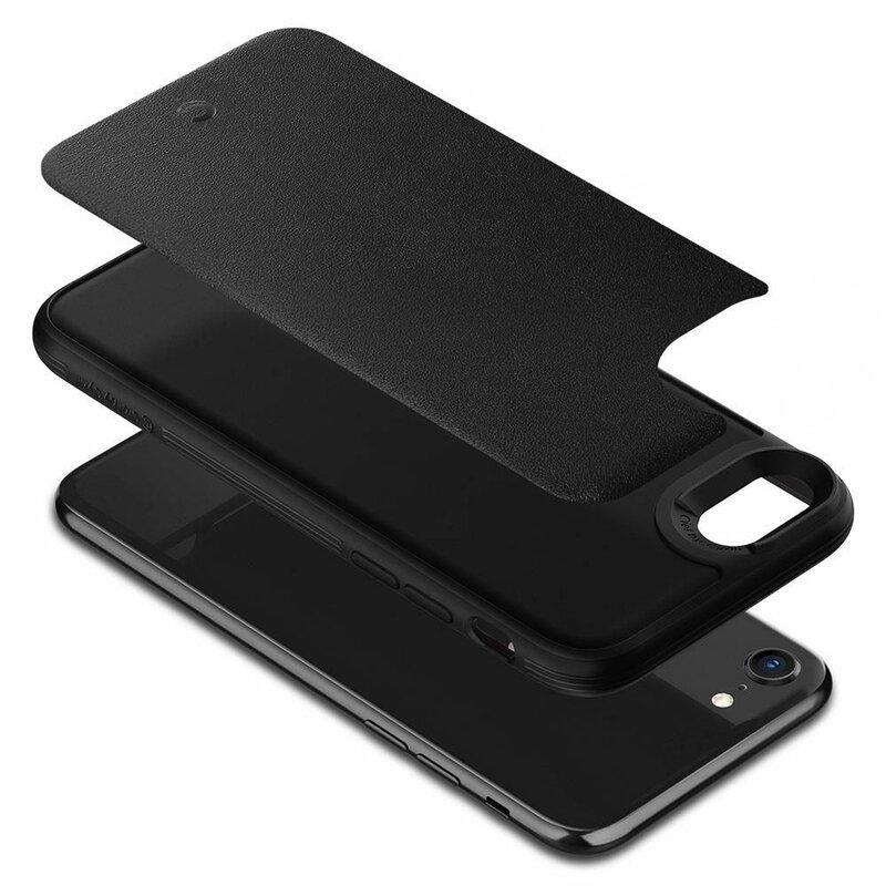 Husa iPhone SE 2, SE 2020 Spigen Ciel by Cyrill Leather Brick - Black