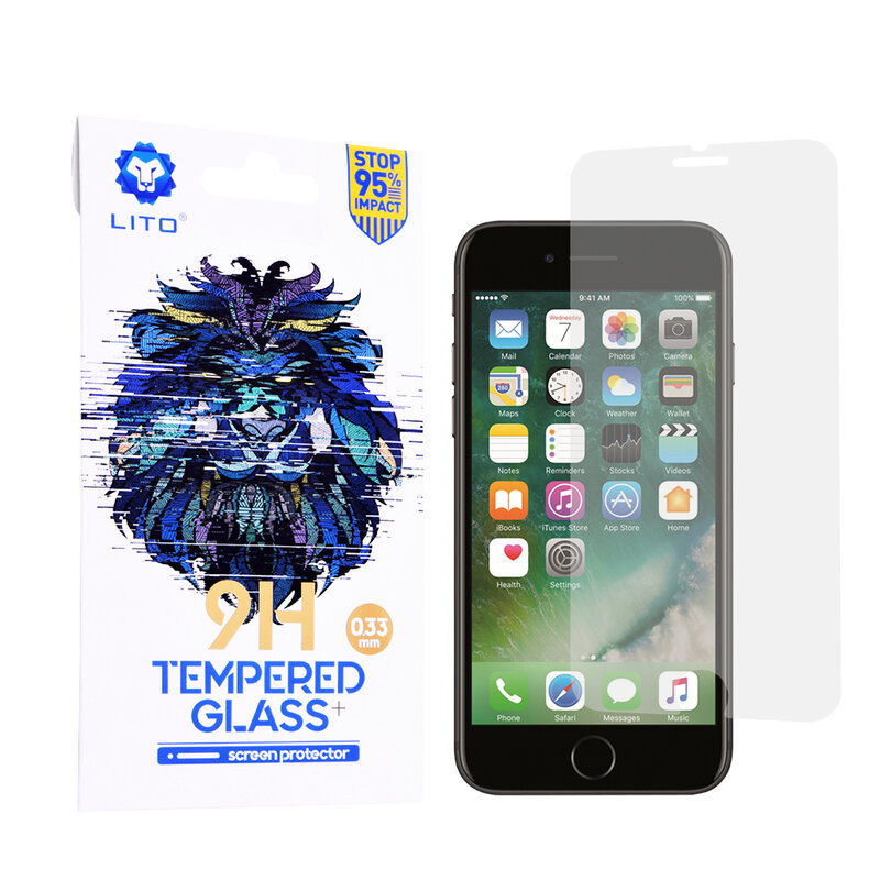 Folie Sticla iPhone 8 Lito 9H Tempered Glass - Clear