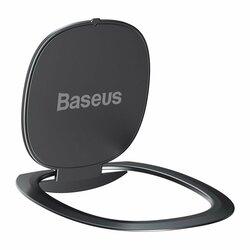 Suport iRing Baseus Invisible Ring Holder Kickstand Auto Cu Adeziv 3M Pentru Telefon - SUYB-0A - Grey
