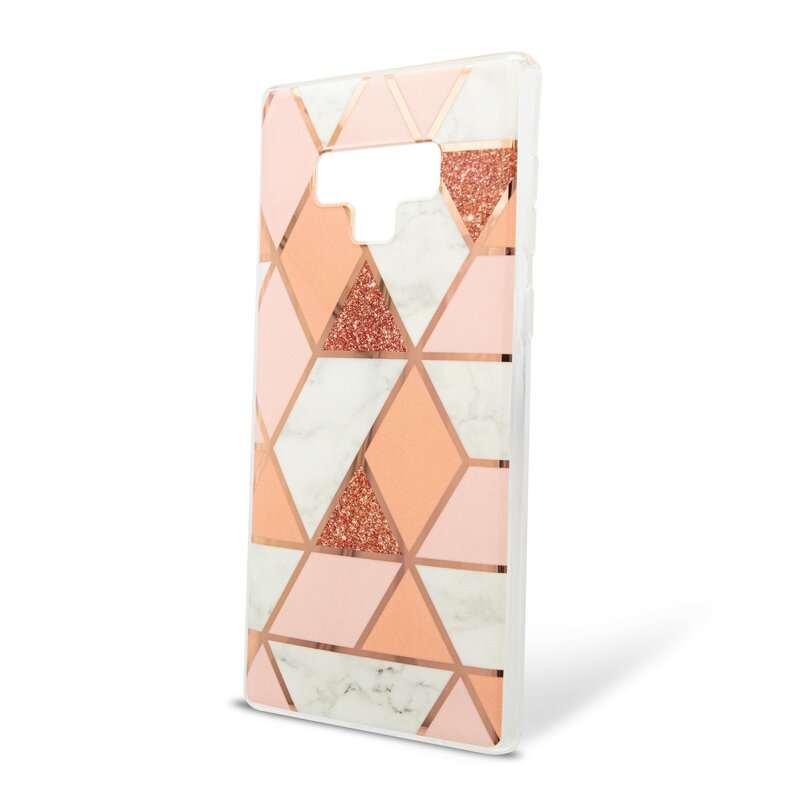 Husa Samsung Galaxy Note 9 Mobster Laser Marble Shockproof TPU - Pink