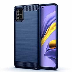 Husa Samsung Galaxy A51 TPU Carbon - Albastru
