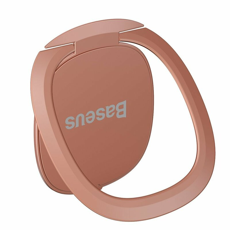 Suport iRing Baseus Invisible Phone Ring Holder Kickstand Auto Cu Adeziv 3M Telefon/Tableta - SUYB-0R - Pink