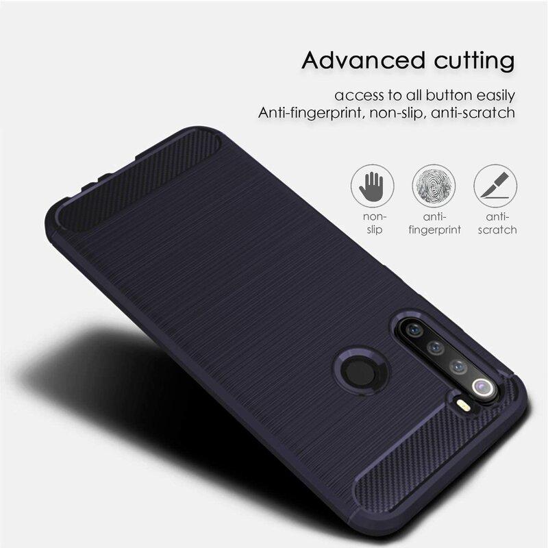 Husa Xiaomi Redmi Note 8 TPU Carbon - Albastru