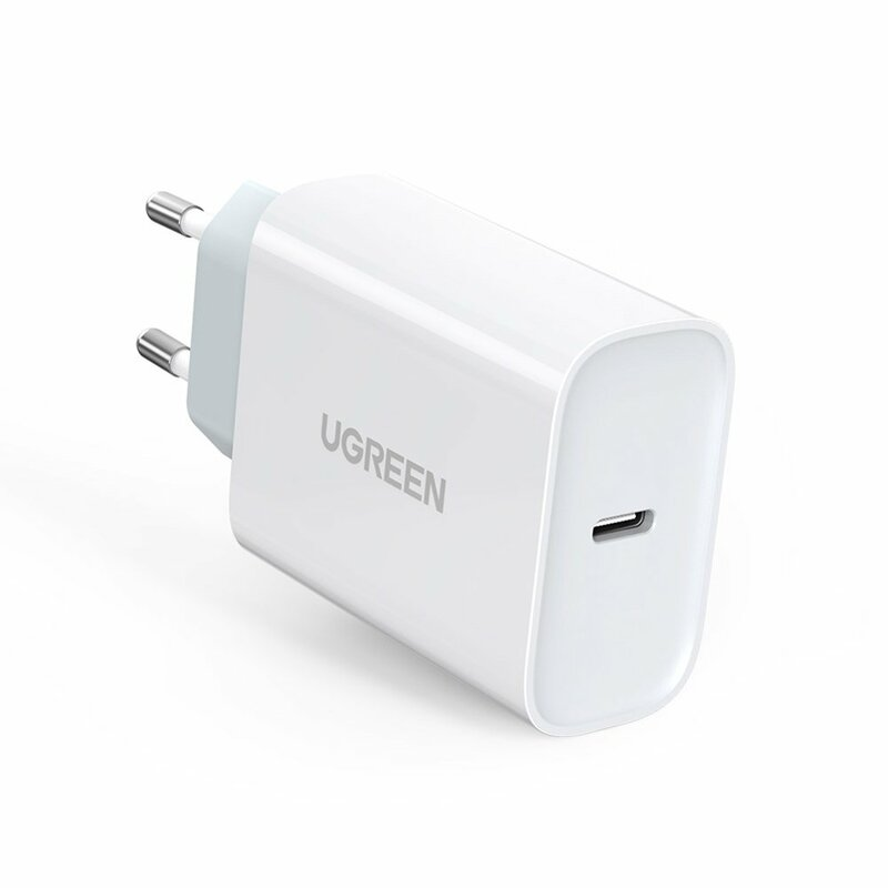 Incarcator Priza Ugreen Fast Wall Charger Travel Adapter Type-C Power Delivery 30W Quick Charge 4.0 - White