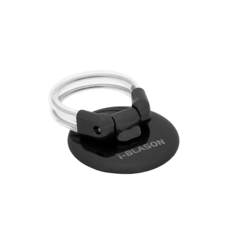 Suport iRing i-Blason Ring Button Phone Ring Holder Kickstand Universal Cu Adeziv 3M Telefon/Tableta - Black