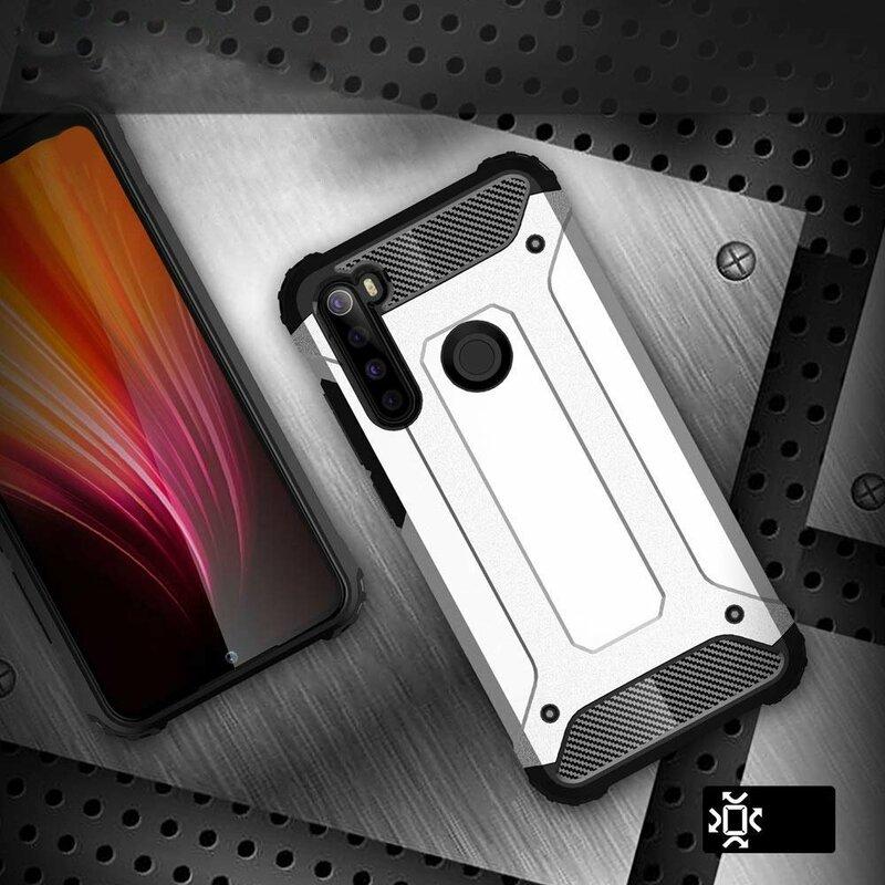 Husa Xiaomi Redmi Note 8 Mobster Hybrid Armor - Argintiu