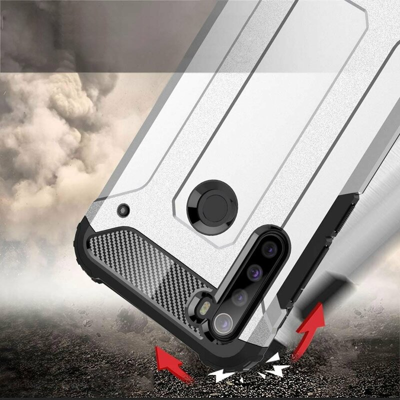 Husa Xiaomi Redmi Note 8 Mobster Hybrid Armor - Albastru