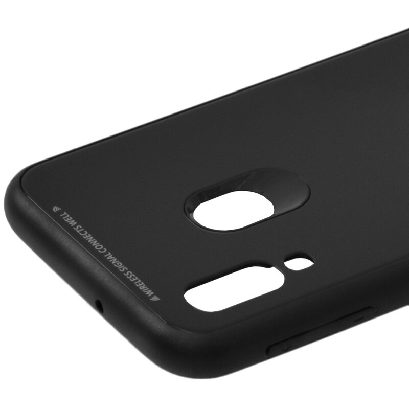 Husa Samsung Galaxy A40 Glass Series - Negru