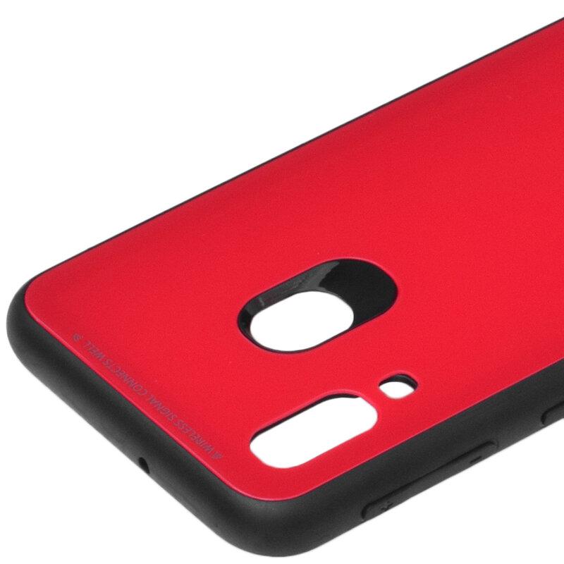 Husa Samsung Galaxy A40 Glass Series - Rosu