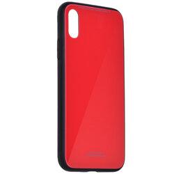 Husa iPhone XS Glass Series - Rosu