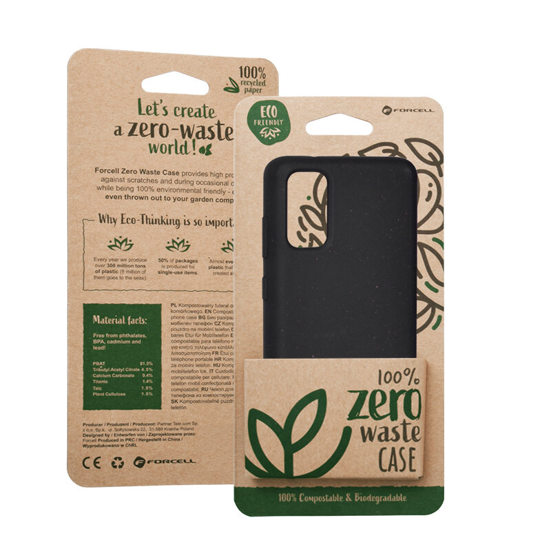 Husa Samsung Galaxy S20 5G Forcell Bio Zero Waste Eco Friendly - Negru