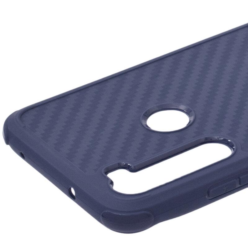 Husa Xiaomi Redmi Note 8 Roar Carbon Armor - Albastru