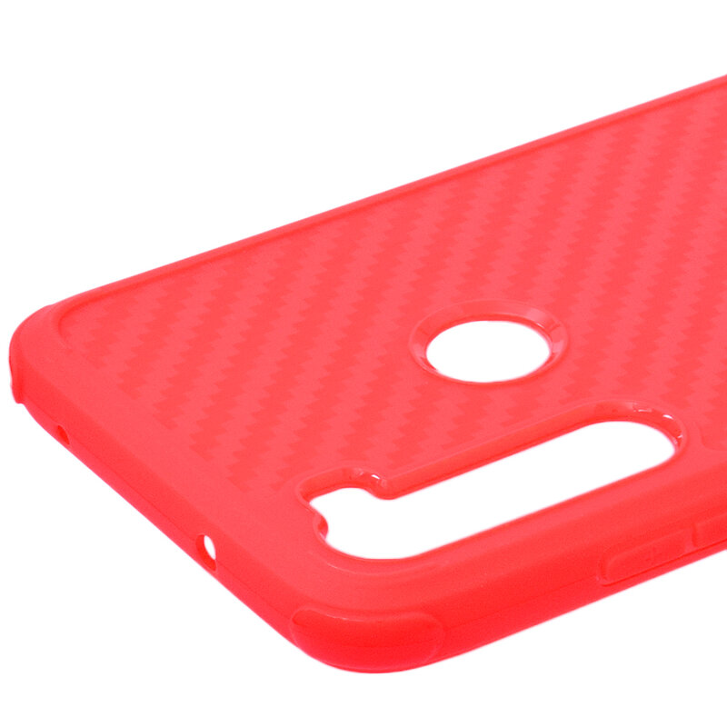Husa Xiaomi Redmi Note 8 Roar Carbon Armor - Rosu