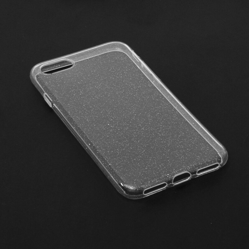 Husa iPhone 8 Silicon Crystal Glitter - Transparent