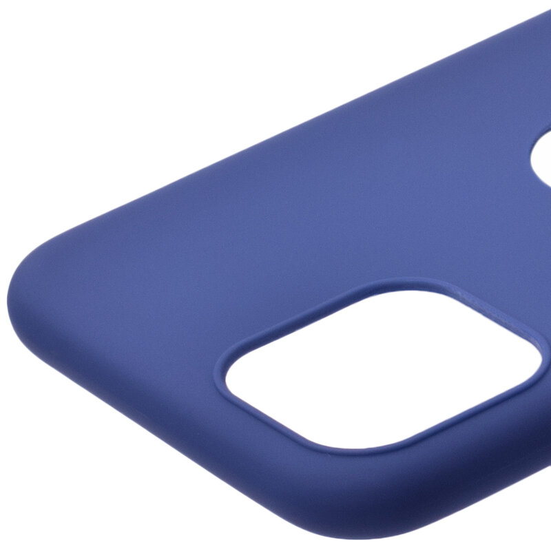 Husa iPhone 11 Pro Soft TPU Cu Decupaj Pentru Sigla - Albastru