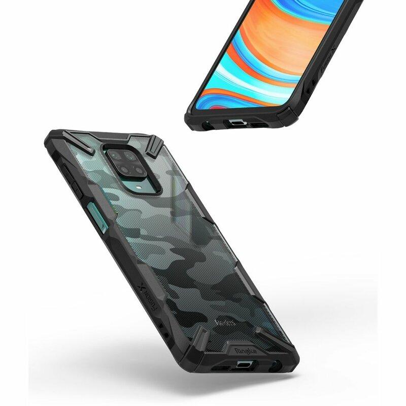 Husa Xiaomi Redmi Note 9 Pro Ringke Fusion X Design - Camo Black
