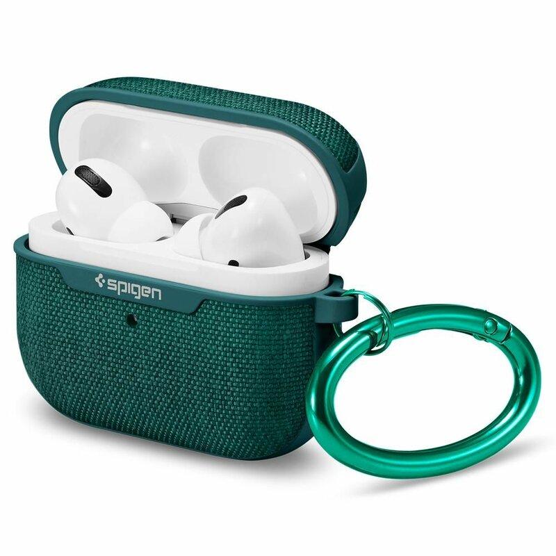 Husa Apple Airpods Pro Spigen Urban Fit Cu Holder Metalic - Verde