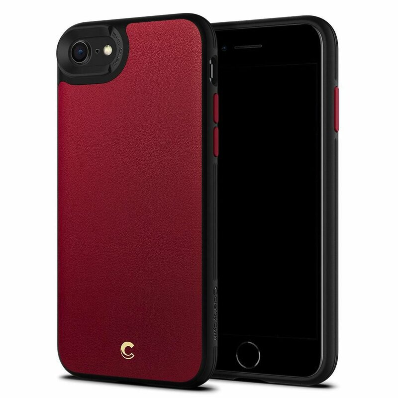 Husa iPhone 8 Spigen Ciel by Cyrill Leather Brick - Red