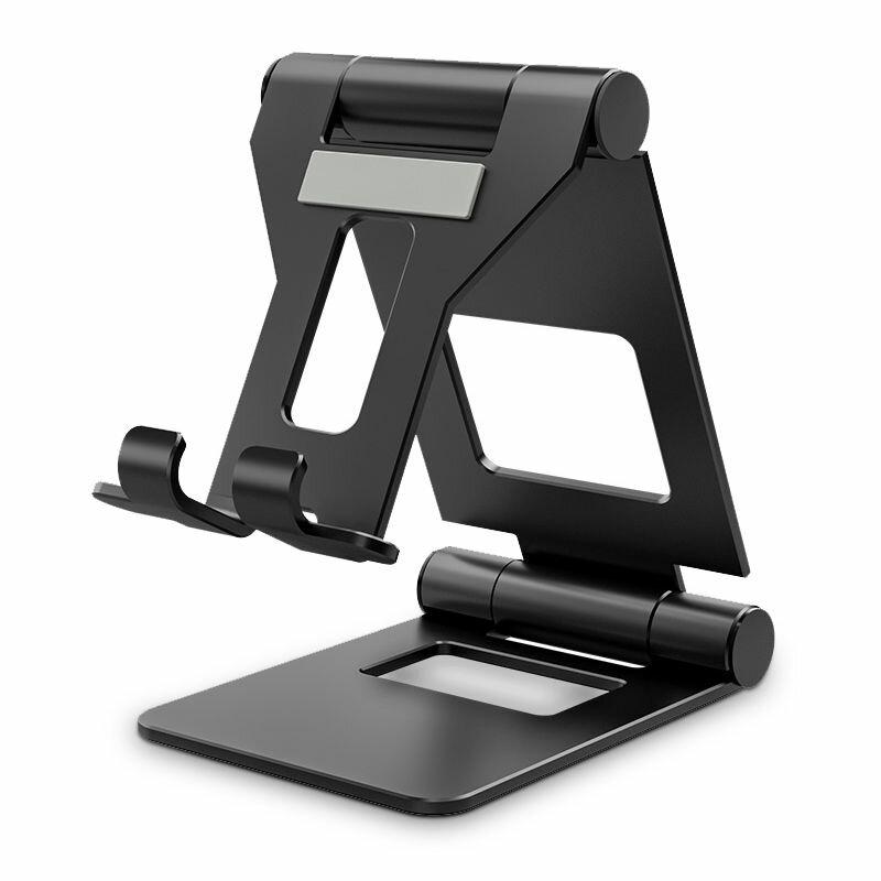Suport Birou Tech-Protect Z10 Universal Stand Pentru Telefon/Tableta Din Aluminiu Pliabil Si Reglabil - Negru