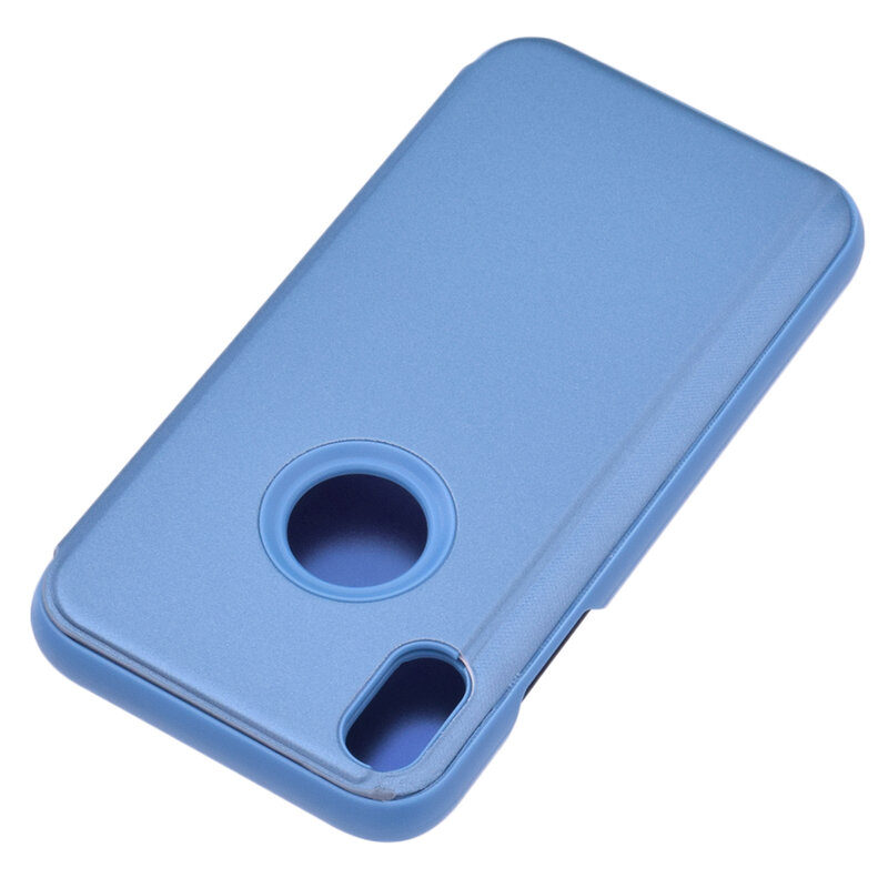 Husa iPhone XS Max Flip Standing Cover - Blue