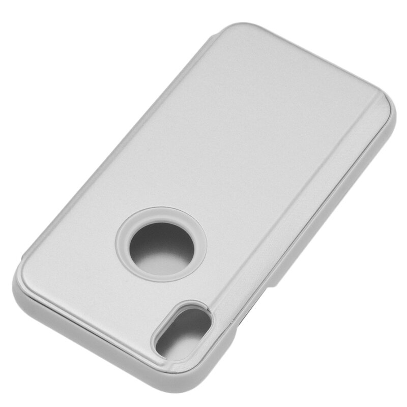 Husa iPhone XS Max Flip Standing Cover - Silver