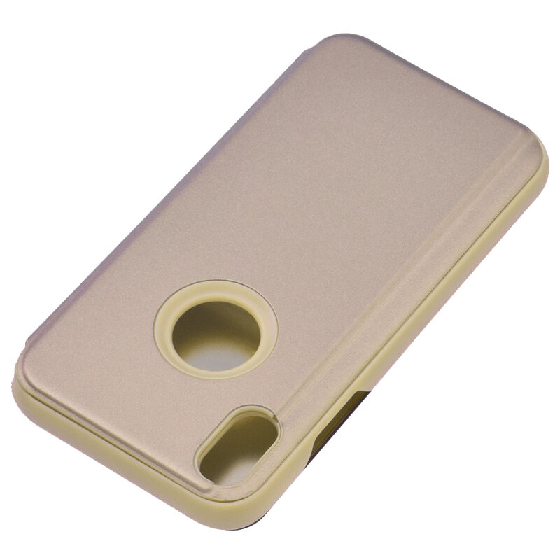 Husa iPhone XS Flip Standing Cover - Gold