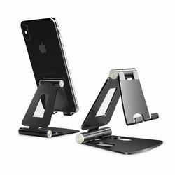 Suport Birou Tech-Protect Z16 Universal Stand Pentru Telefon Din Aluminiu Pliabil Si Reglabil - Cenusiu