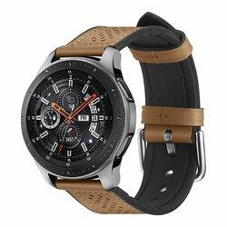 Curea Huawei Watch GT 2 46mm Spigen Retro Fit Din Piele Ecologica Si Inchidere Cu Catarama - Maro