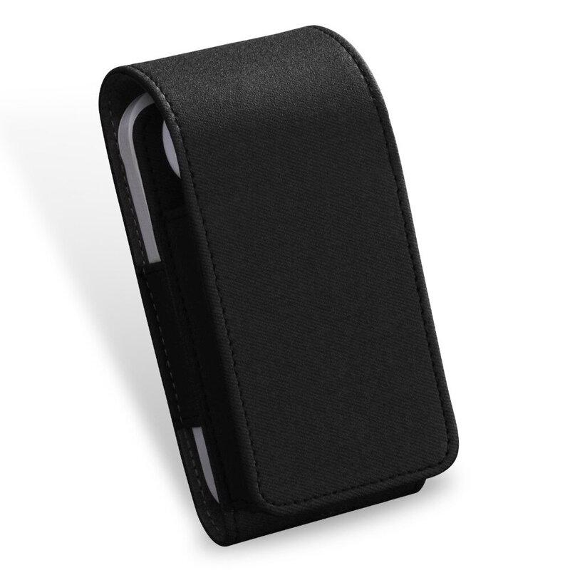 Husa IQOS Cigarette Dux Ducis Fashion Edition Piele Ecologica Pentru Protectia/Organizarea Accesoriilor - Negru