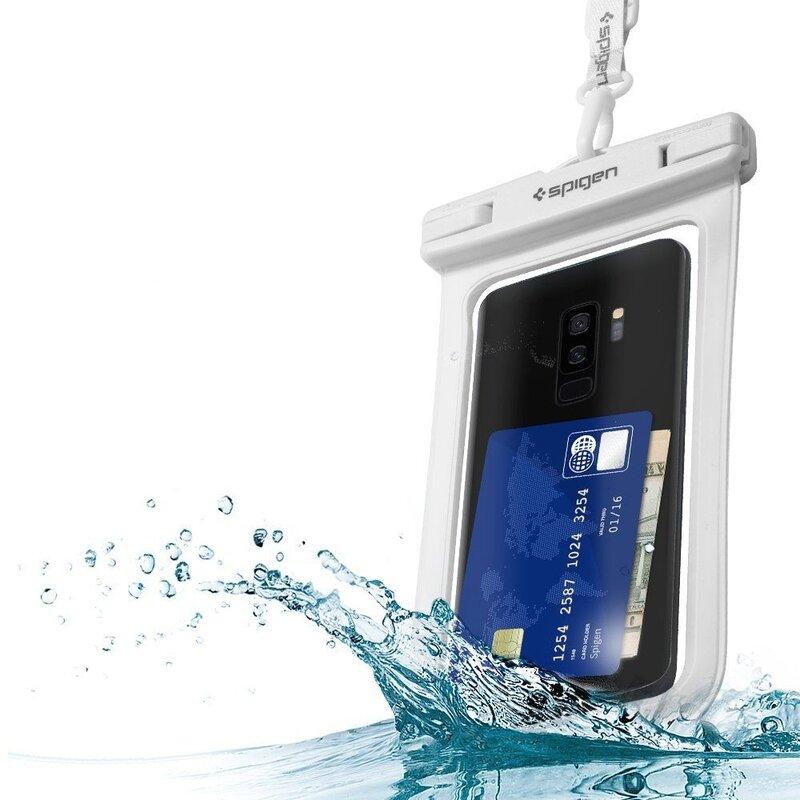 Husa Subacvatica Pentru Telefon Waterproof cu Inchidere Etansa Spigen A600 Universal - White
