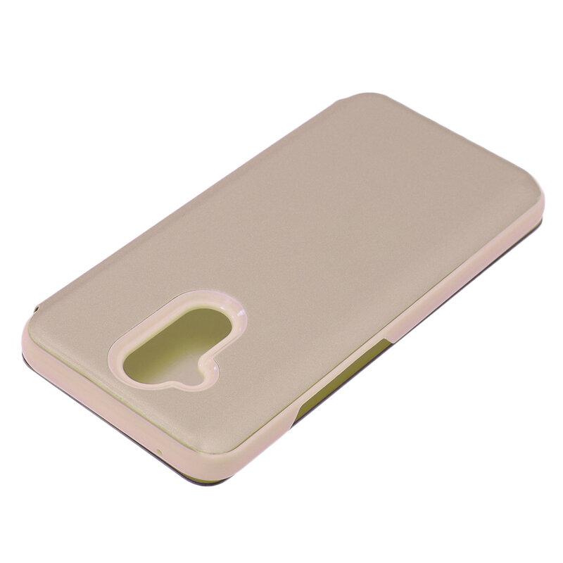 Husa Huawei Mate 20 Lite Flip Standing Cover - Gold