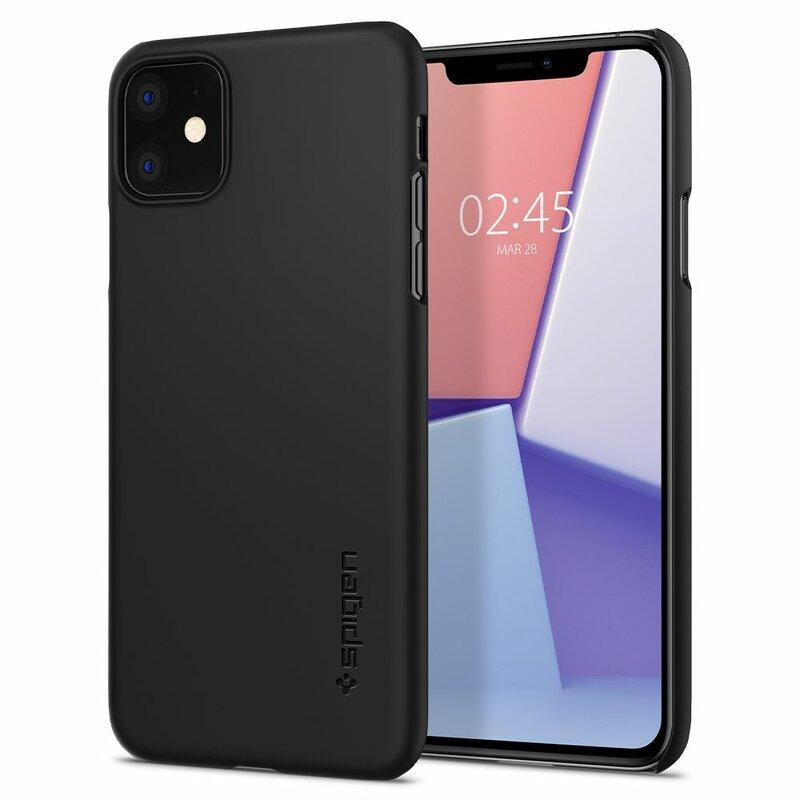 Husa iPhone 11 Spigen Thin Fit - Black