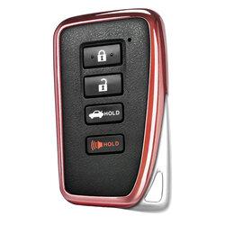 Husa Cheie Auto Dux Ducis Car Key Pentru Lexus Din Silicon Si TPU Galvanizat - Roz