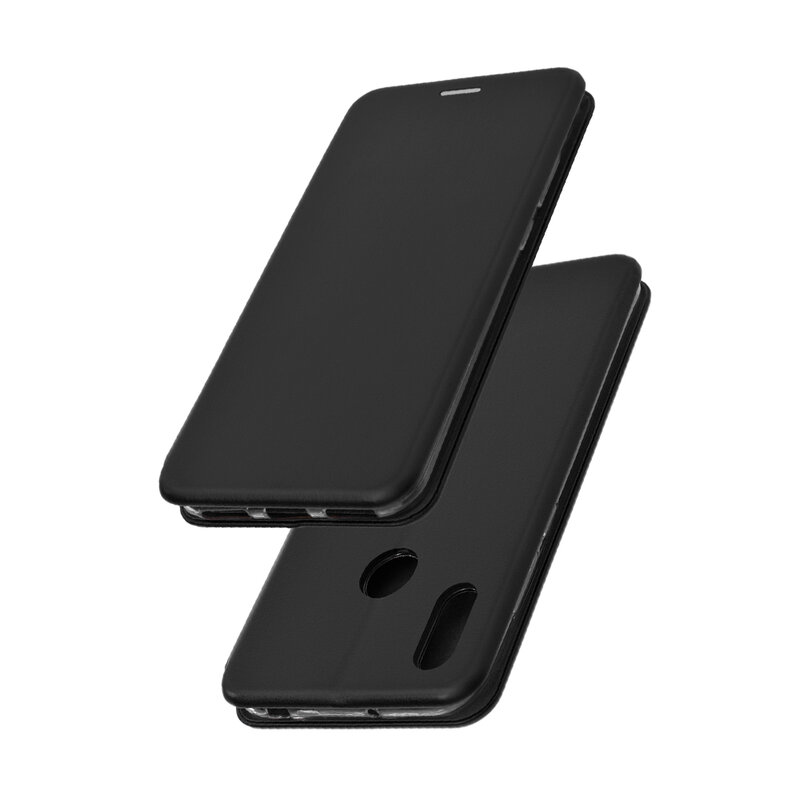 Husa Huawei Y6 2019 Flip Magnet Book Type - Black