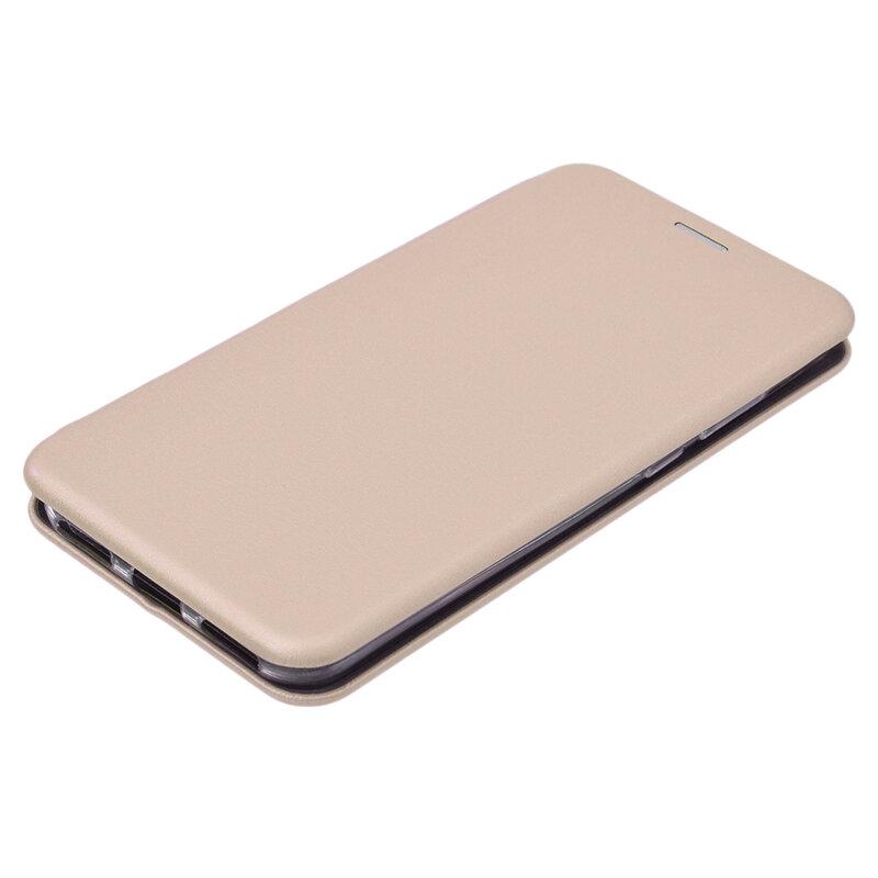 Husa Huawei Y6 2019 Flip Magnet Book Type - Gold