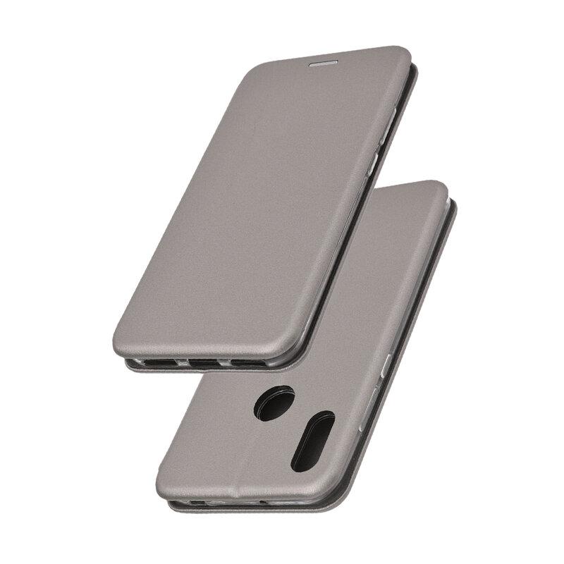Husa Huawei Y6 2019 Flip Magnet Book Type - Grey