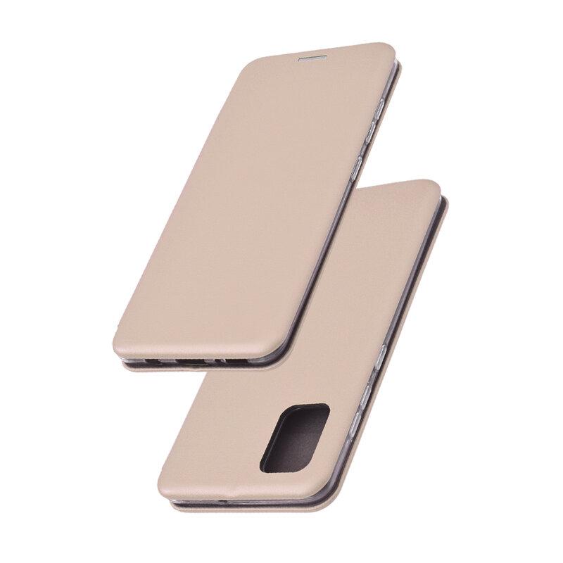 Husa Samsung Galaxy A51 Flip Magnet Book Type - Gold