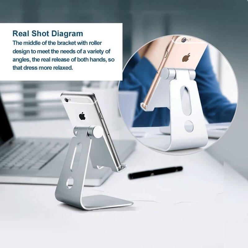 Suport Birou Mobster Aluminum Universal Stand Pentru Telefon / Tableta Din Aluminiu Pliabil Si Reglabil - Negru