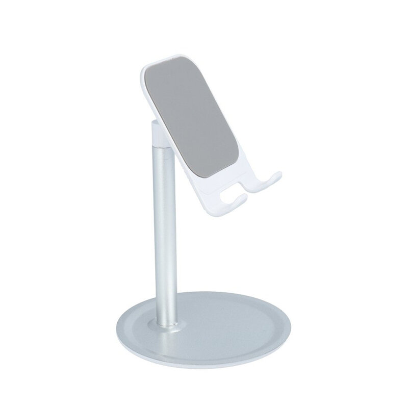 Suport Birou Mobster Desk Holder Universal Stand Rotativ Si Ajustabil Pentru Telefon / Tableta / eBook - Argintiu