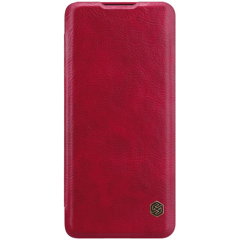 Husa Huawei P40 Pro Nillkin QIN Leather - Rosu