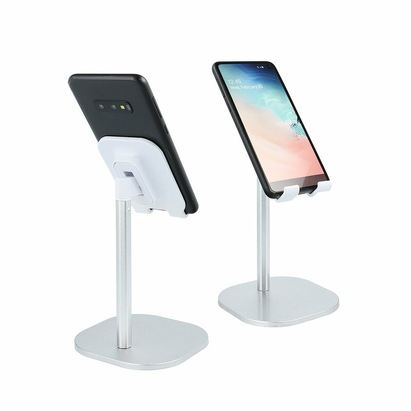 Suport Birou Mobster Telescopic Desk Holder Universal Cu Stand Ajustabil Pentru Telefon / Tableta / eBook - Argintiu