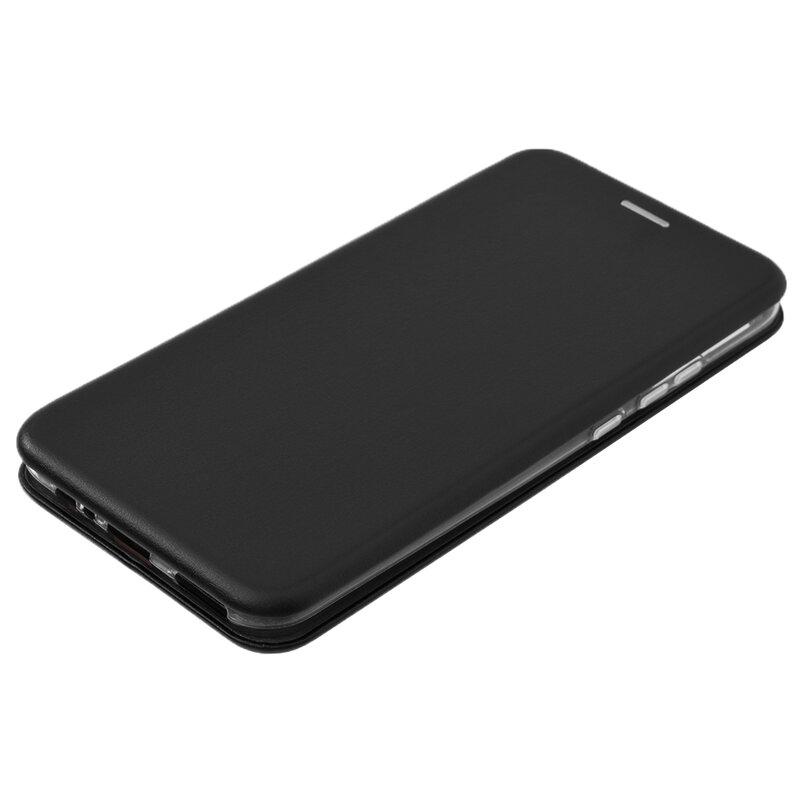 Husa Huawei P40 Lite E Flip Magnet Book Type - Black