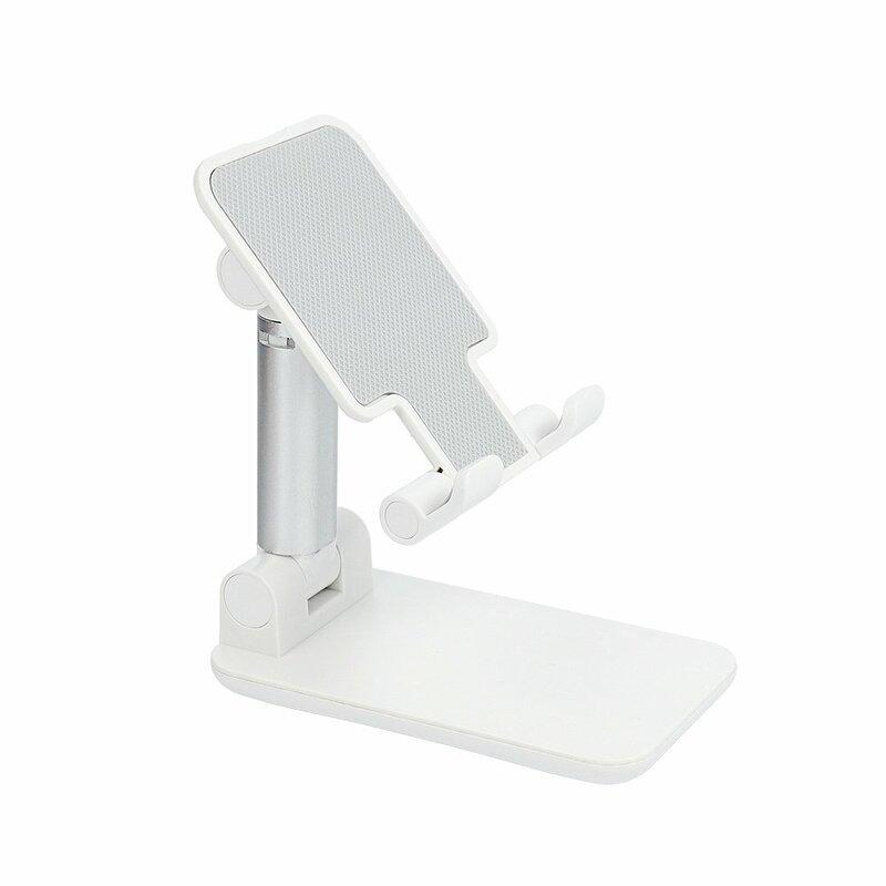 Suport Birou Mobster Foldable Desk Holder Stand Ajustabil Si Pliabil Pentru Telefon / Tableta / eBook - Argintiu
