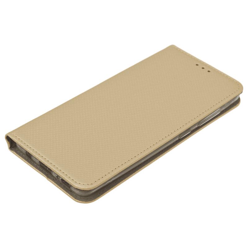 Husa Smart Book Samsung Galaxy A51 Flip - Auriu