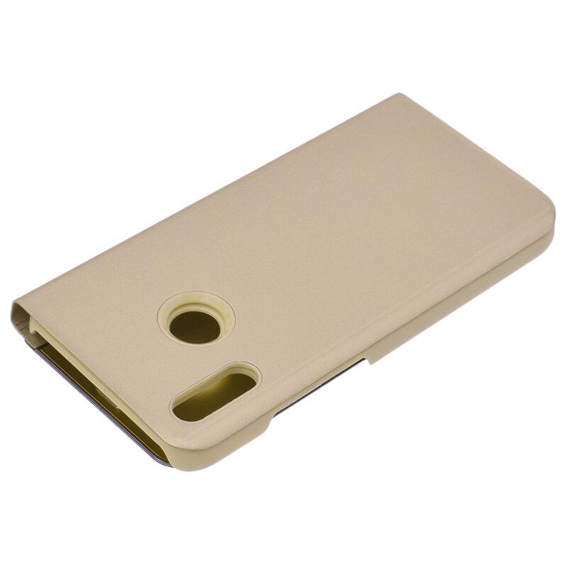 Husa Huawei P20 Lite Flip Standing Cover - Gold