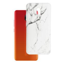 Husa Xiaomi Redmi 8A Wozinsky Marble TPU - White