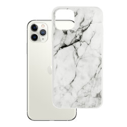 Husa iPhone 11 Pro Max Wozinsky Marble TPU - White