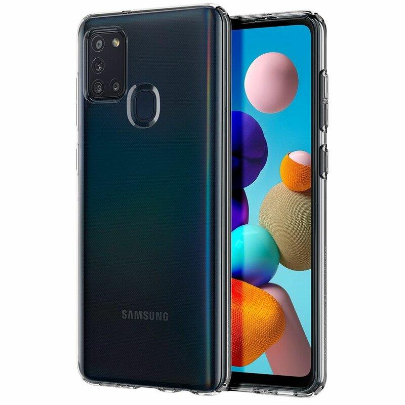 Husa Samsung Galaxy A21s Spigen Liquid Crystal - Crystal Clear